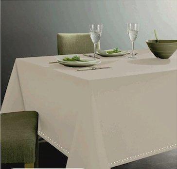 Tovaglia Bianca In 100 % Cotone Per Tavolo Da 12 Persone. Altissima  Qualitˆ. Bordo