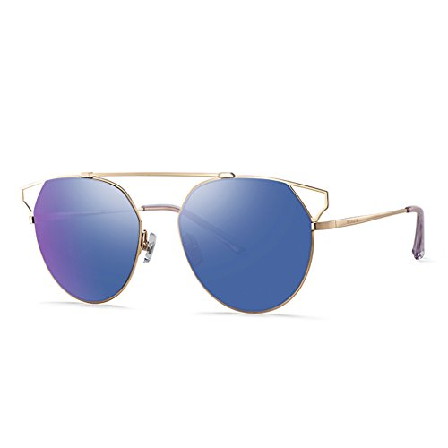 Blue double dames de soleil Lunettes personnalité faisceau xAU1YBq