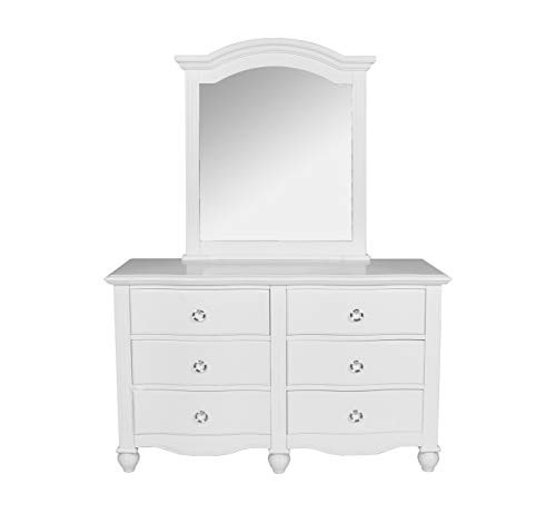 New Classic Furniture 05-621-052 Victoria Youth Dresser, White (Dresser Youth Tall)