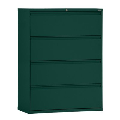 Sandusky Lee LF8F304-08 800 Series 4 Drawer Lateral File Cabinet, 19.25″ Depth x 53.25″ Height x 30″ Width, Forest Green