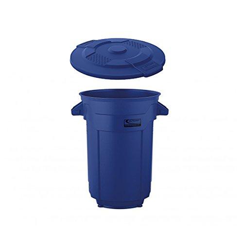 SUNCASTラウンドダストボックス 120L 蓋付き業務用ごみ箱(ブルー) B0777DVZ1P 120L|ブルー ブルー 120L