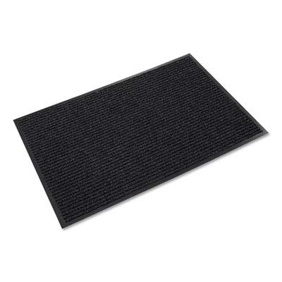 (Needle-Rib Wiper/Scraper Mat, Polypropylene, 36 x 48, Charcoal (7)