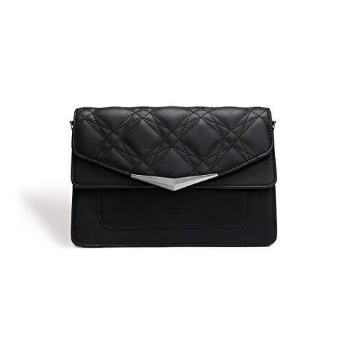 (LaBante - Marlene- Vegan Handbags Crossbody bags for women - black crossbody vegan purses quilted bag small crossbody purse side bag evening clutch crossover bag pink purse )