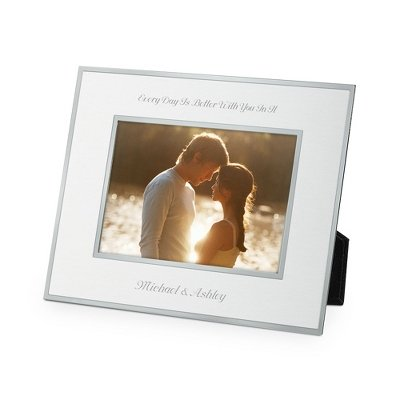 Things Remembered Personalized Silver Flat Iron 5 x 7 Landscape Frame with Engraving (7' Silver Frame)