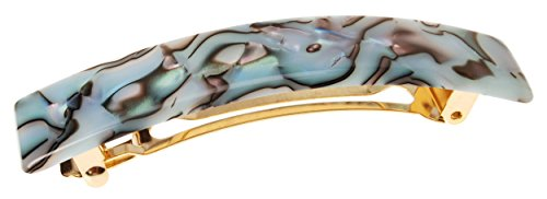 - France Luxe Classic Rectangle Hair Barrette, South Sea - Classic French Design for Everyday Wear