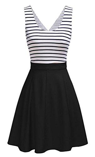 Brinny ALinien Kleider Damen knielang Kleider Skaterkleid Minikleid ...