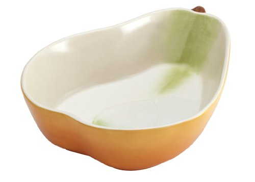 (Paula Deen Signature Stoneware 12-Inch Pear-Shaped Serving Bowl, Orchard Harvest)