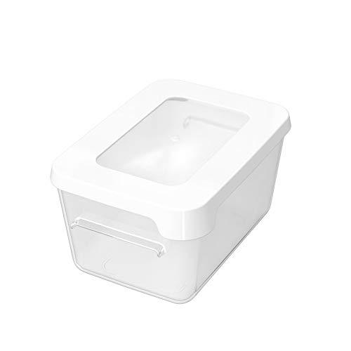 Gastromax Rechthoekig Lunchbox, 0.45 Liter Capaciteit, Transparant/Witte