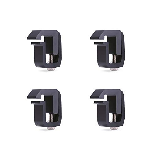 AA-Racks P-AC-08 Truck Cap/Camper Shell Mounting Clamp fit Chverolet Silverado S-10 Colorado/GMC Sierra Sonoma Canyon, Dodge Ram, Ford F-150 F-250 F-350, Set of 4 - Black ()