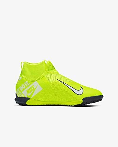 Nike Jr. Phantom Vision Academy Dynamic Fit TF Younger/Older Kids' Turf Soccer Shoe (6), Volt/Volt/White