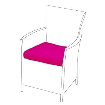 Rosa para cojín de asiento para jardín ratán silla Terraza al ...