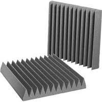 Acoustic Foam Lg 12 Pack Room Kit - Wedge 2'' 24'' x 24'' covers 48 sq Ft - SoundProofing/Blocking/Absorbing Acoustical Foam - Made in the USA!