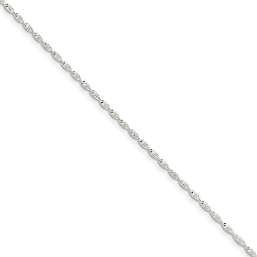 ICE CARATS 925 Sterling Silver 1.65mm Twisted Link Herringbone Bracelet Chain 7 Inch Fine Jewelry Ideal Gifts For Women Gift Set From - Twisted Heart Bracelet Sterling