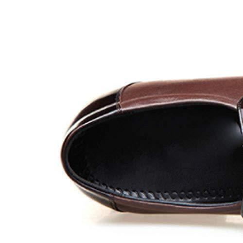 De De Cuero Hombre De Trajes Aumentó Zapatos Los Negocios Los Brown Señalaron La Zapatos Cabeza De Los Hombres Los fq4qY8w