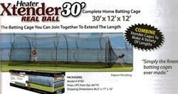 Heater Real Ball Basehit Pitching Machine & 30' Xtender Batting Cage