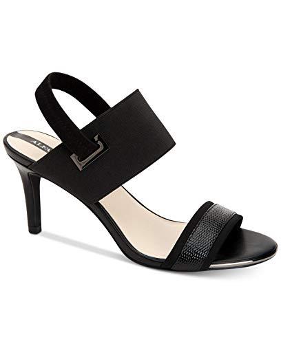 Alfani Womens Geneviat Open Toe Special Occasion Slingback, Black, Size 11.0