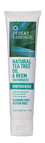 Desert Essence Natural Tea Tree Oil and Neem Toothpaste, Wintergreen,6.25 Oz (Pack of 3) by Desert Essence (Image #4)