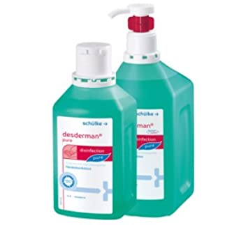 3x 500 Ml Schulke Desderman Pure Hyclick Handedesinfektionsmittel
