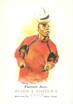 Freddy Adu trading card (Soccer) 2007 Topps Allen & Ginters Champions #157
