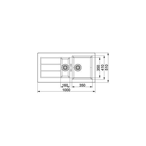 //Évier Franke Sid 651/top-mount Sink/ /évier sur plan, rectangulaire, blanc, rectangulaire, 350/x 410/mm, rectangulaire