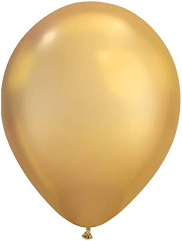 [해외]Qualatex Chrome Solid Gold Shine 7 Inch Latex Balloons 100 Count / Qualatex Chrome Solid Gold Shine 7 Inch Latex Balloons 100 Count