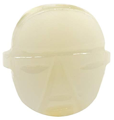 (Serene Green Onyx Aragonite Buddha Face Pendant, 1.75