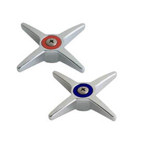 Chicago Faucets 633-PRJKCP 3-Inch Metal Cross Handles, 2-Pair, Chrome ()