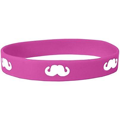 Komonee Pink Moustache Movember Silicone Wristband Estimated Price £2.45 -