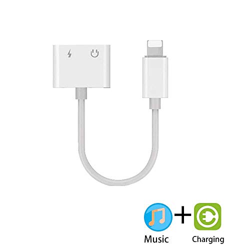 MYUANGO Headphone Adapter Compatible Charger and Listen to Music Adapter Cable for iPhone Xs/Xs Max/XR/ 8/8 Plus for X (10) / 7/7 Plus Car Charge Earphone Charger Accessories Support for iOS System