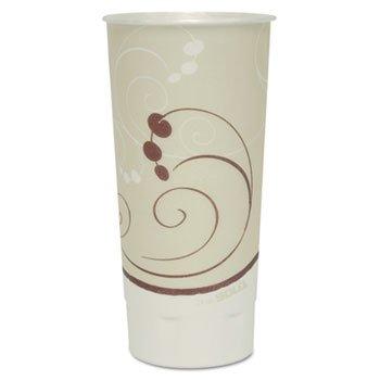 Symphony Trophy Plus Dual Temperature Cups, 24 Oz, Beige, 600/carton
