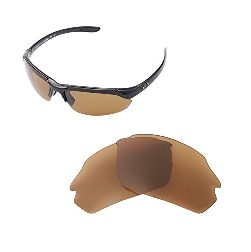 Walleva Replacement Lenses For Smith Parallel Max Sunglasses - Multiple Options available (Brown - Polarized)