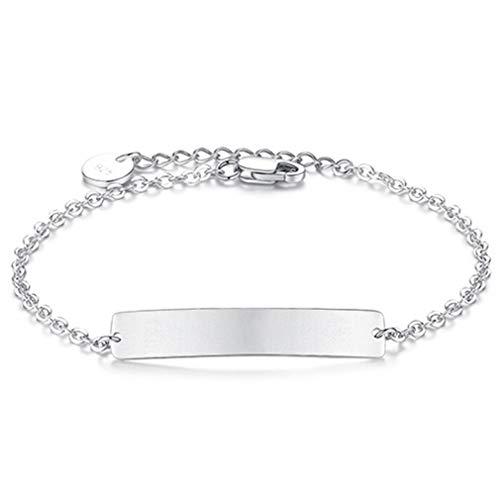 (Simple DIY Link Chain Bracelet Adjustable Sterling Silver Geometric Jewelry Bracelet For Women Men Lover Gift Men Size)