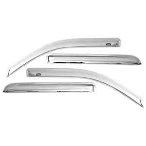 Auto Ventshade 684528 Chrome Ventvisor Side Window Deflector, 4-Piece Set for 2014-2018 Silverado & Sierra 1500, 2015-2018 Silverado & Sierra 2500HD-3500HD with Extended Cab