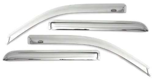 Auto Ventshade 684975 Chrome Ventvisor Side Window Deflector, 4-Piece Set for 2015-2018 Ford F-150, 2017-2018 Raptor & F-250 to F-550 Super Duty with SuperCrew Cab