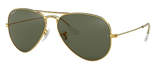 Ray Ban RB3025 001/58 55M Gold/Polarized Green Aviator ()
