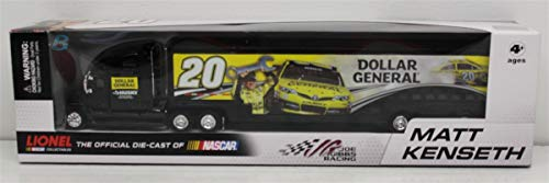 (Action 2013 Matt Kenseth #20 Dollar General Husky Two Sided Hauler Trailer Transporter Semi Tractor Rig Truck 1/64 Scale Racing Collectables 2013 Limited Edition Metal Cab/Tractor Plastic)