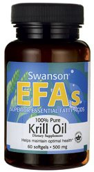 100% pure huile de krill 500 mg 60 Sgels par Swanson AGE