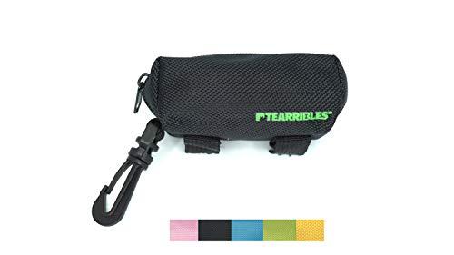 op Bag Holder Leash Attachment Waste Bag Dispenser, Reflective Strip, Lightweight Fabric, Walking, Running Hiking Accessory (Black) ()