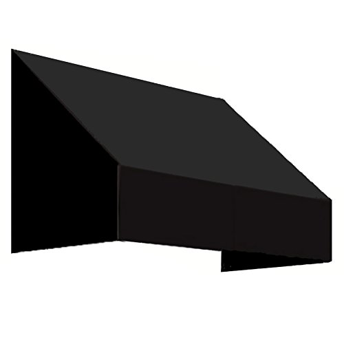 Awntech 4-Feet New Yorker Window/Entry Awning, 18-Inch Height by 36-Inch Diameter, Black