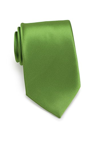 Bows-N-Ties Men's Necktie Solid Color Microfiber Satin Tie 3.25 Inches (Clover)