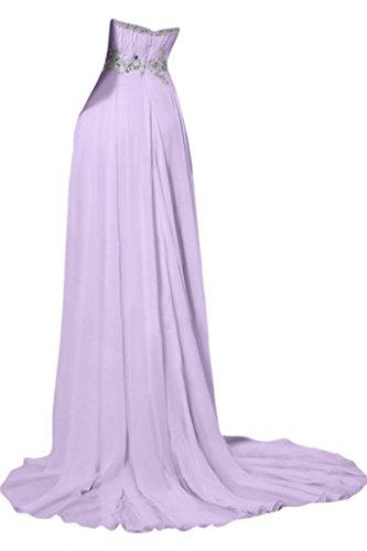 Sunvary Robe longue Robe de Soir ¨ ¦ e Robe de Demoiselle D 'honneur Robe de cóctel Sans Bretelles Col en C? Ur a-ligne avec Paillettes, sintética Diamants en gasa Lilas