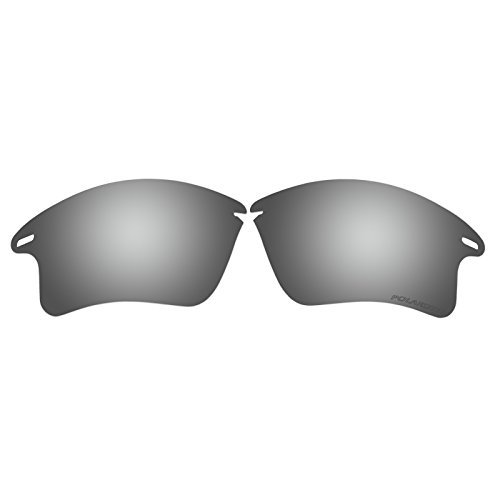 Polarized Replacement Sunglasses Lenses for Oakley Fast Jacket XL with UV Protection(Silver) by C&D