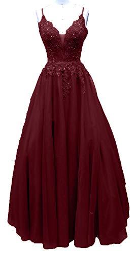 Abiballkleider A Traeger Burgundy Charmant Rot Damen Ballkleider Abendkleider Lang Linie Quincenerakleider Spaghetti g8gwTxqB