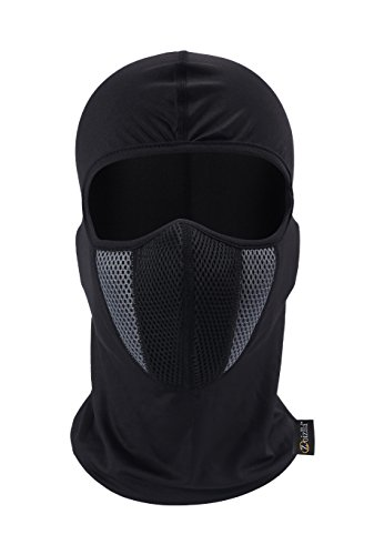 Balaclava Ski Mask, Zoizlla Motorcycle Face Mask for Men/Women, Thin Breathable Face Mask, Tactical Mask Snowboard Headgear Black
