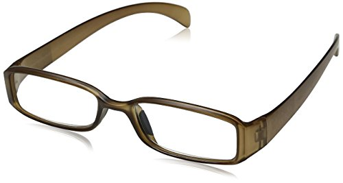 Optx20/20 Ecoclear Ozone Bio Based Reading Glasses, Matte Black, Matte Green Metalic +250