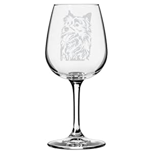 Australian Terrier Dog Themed Etched All Purpose 12.75oz Libbey Wine Glass 2