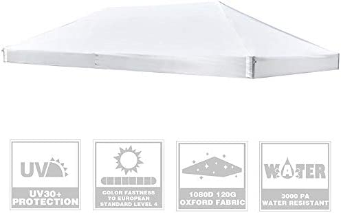 Instahibit 10x20Ft Replacement Canopy Top Cover UV30