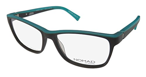 Nomad By Morel 2381n For Ladies/Women Cat Eye Full-Rim Shape Spring Hinges European Two-tone Eyeglasses/Eye Glasses (55-16-135, Brown/Teal) (European Mount Glass)