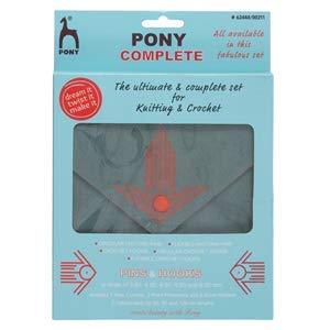Pony Complete Knitting & Crochet Set: Grey & Orange