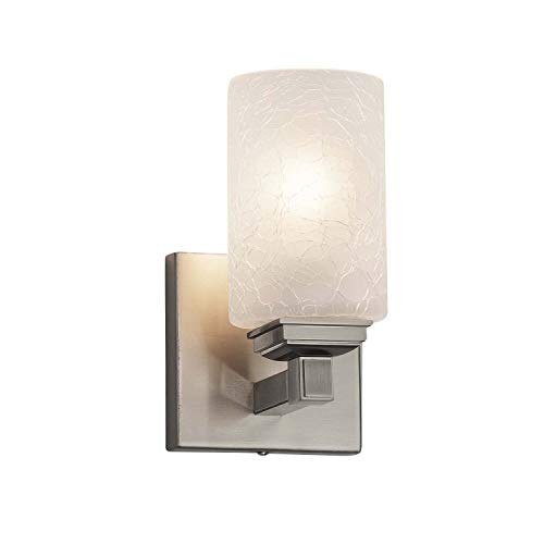 (Justice Design Group Lighting FSN-8431-10-FRCR-NCKL Regency Wall Sconce, 8